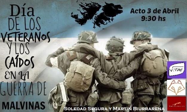 2 de Abril Los estudiantes del Secundario recuerdan a nuestros Caídos en Malvinas