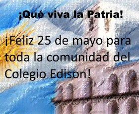 ¡Feliz 25 de mayo!