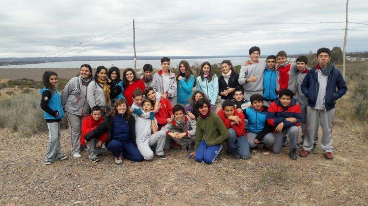 Campamento con los alumnos de 1° año