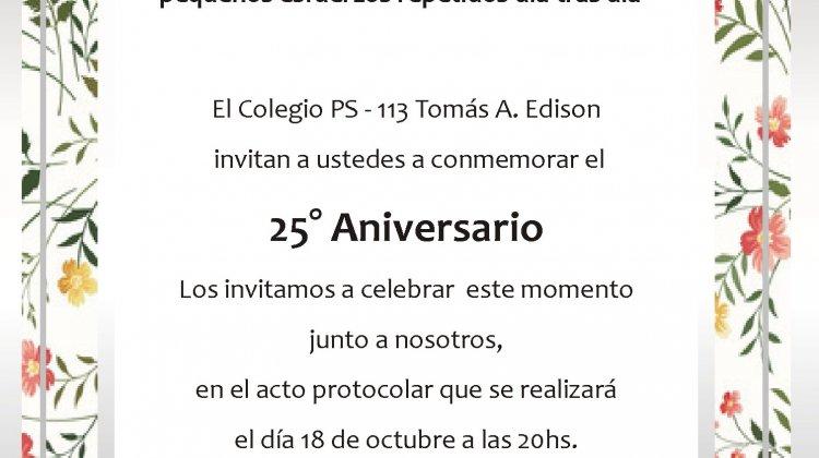 Acto 25° Aniversario