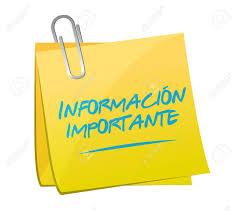 INFORMACIÓN IMPORTANTE SOBRE LAS ACTIVIDADES DEL DÍA JUEVES 8/11/18