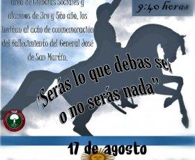 Conmemoración Paso a la Inmortalidad del General San Martín