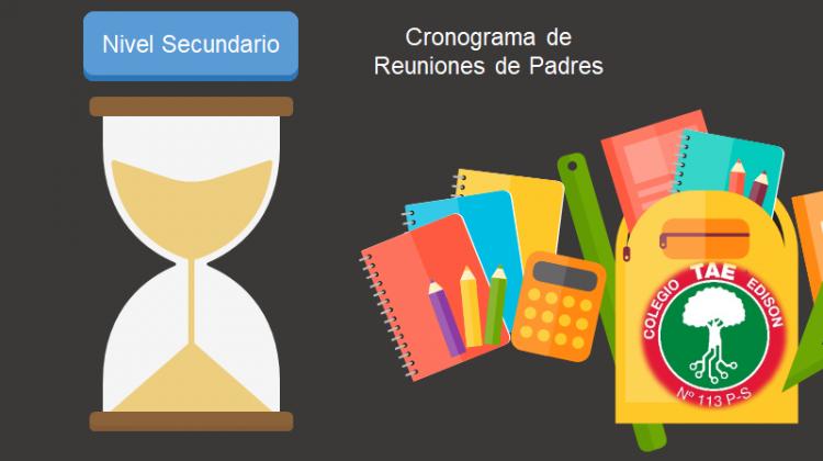 Cronograma de reuniones de padres de Secundaria