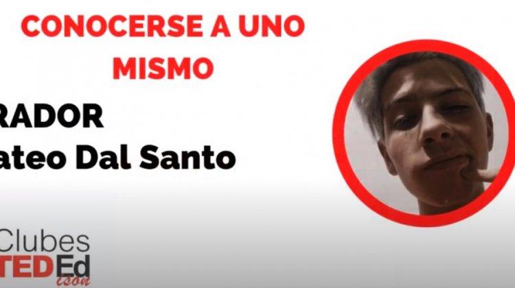 """Conocerse uno mismo"" – Mateo Dal Santo – Clubes TEDed2020"